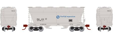 Athearn 12268 N PQ Corporation ACF 2970 Covered Hopper Car #232