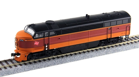 True Line Trains 500152 HO Milwaukee 4-Axle C-Liner A Unit # 27C (Orange/Maroon)