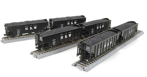 Broadway Limited 4443 HO Norfolk & Western H2a 6-pack P Hopper Car