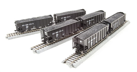 Broadway Limited 4451 HO Baltimore & Ohio H2a 6-pack Q Hopper Car
