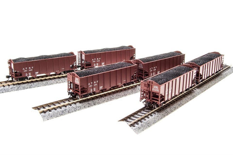 Broadway Limited 4452 HO ATSF 3-bay 6-pack Hopper Car