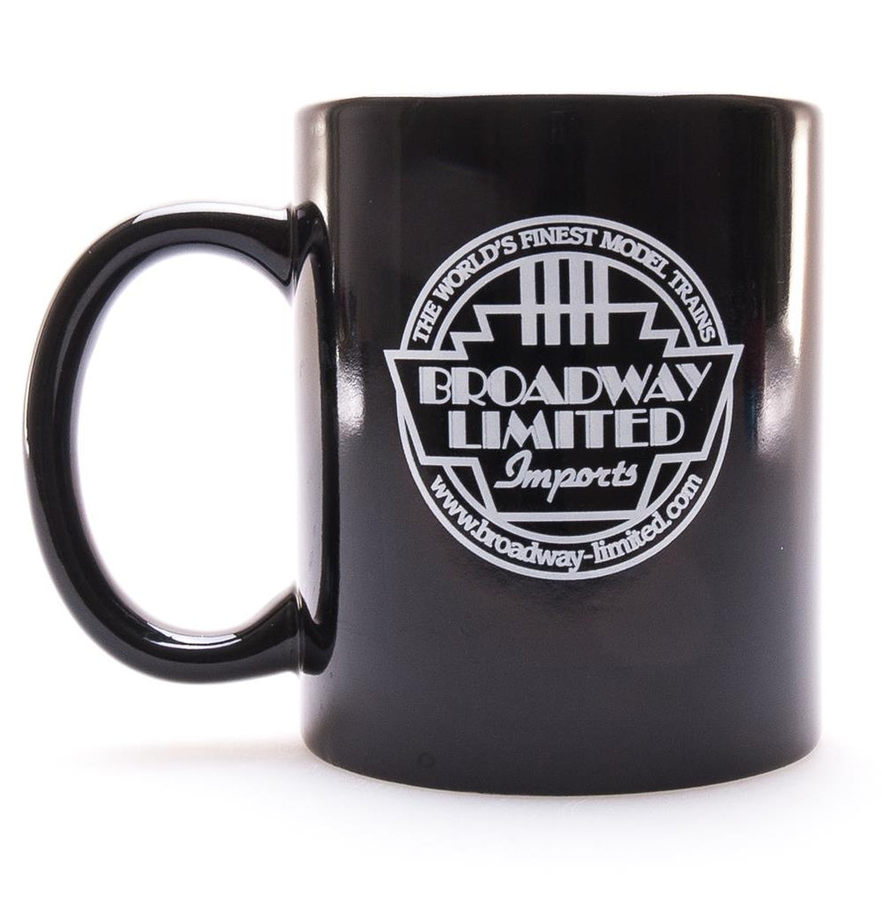 Broadway Limited 5301 Imports Black Ceramic Mug