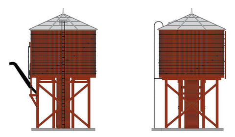 Broadway Limited 6130 N Oper Water Tower W/sound, Unlettered, Barn Red, Non-weathered