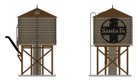 Broadway Limited 6132 N ATSF Oper Water Tower w/sound, w/ ATSF Logo, Weathered Brown