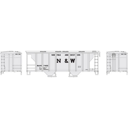 Athearn 96166 HO Norfolk and Western PS-2 2003 2-Bay Covered Hopper #71458