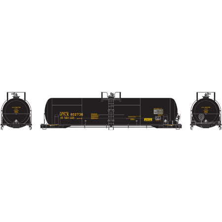Athearn 74447 HO UTLX RTC 20,900-Gallon Tank Car #802736 (Black)