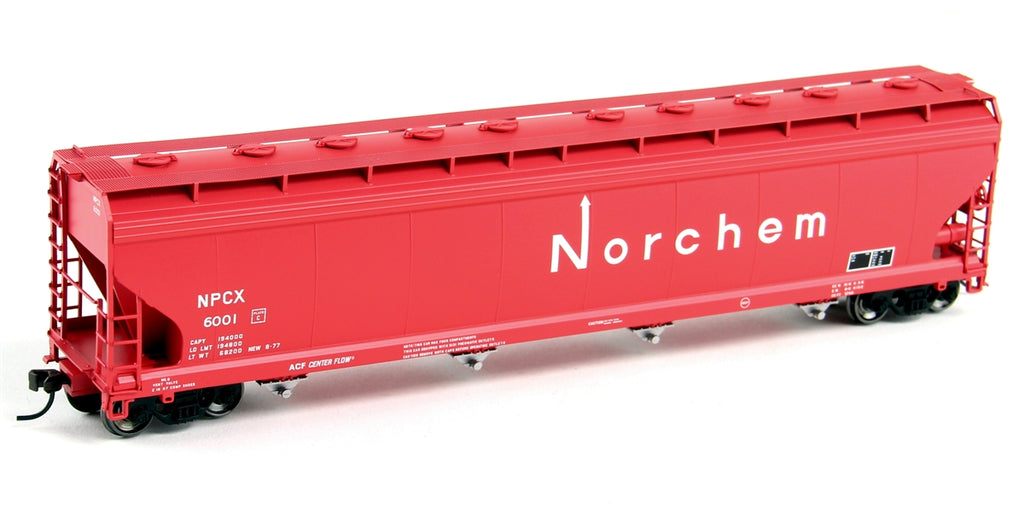 Atlas 20003552 HO Norchem ACF 5701/5800 4-Bay Covered Hopper #6001