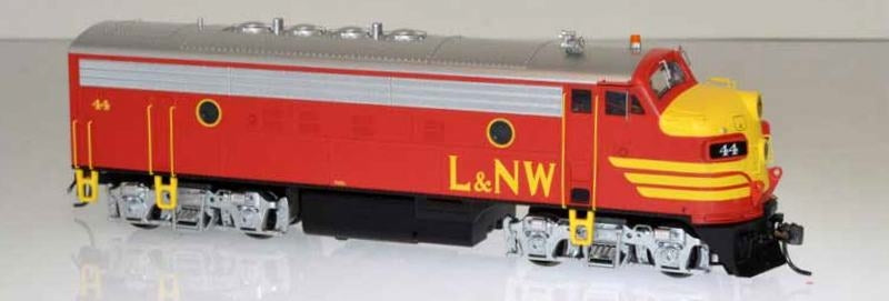 Bowser 24054 HO Louisiana and North West Railroad EMD F7A (Equipped with DCC and LokSound) #44