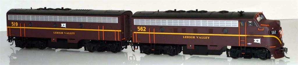 Bowser 24062 HO Lehigh Valley EMD F7A/B Set(Flag Nose Logo)(Equipped with DCC and LokSound) #562/519