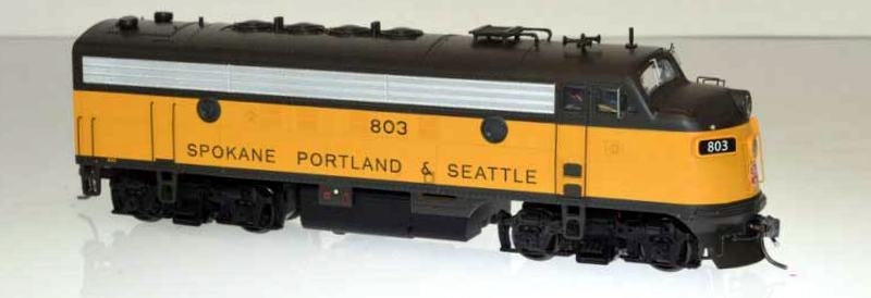 Bowser 24072 HO Spokane Portland and Seattle EMD F7A (Late Scheme) #803