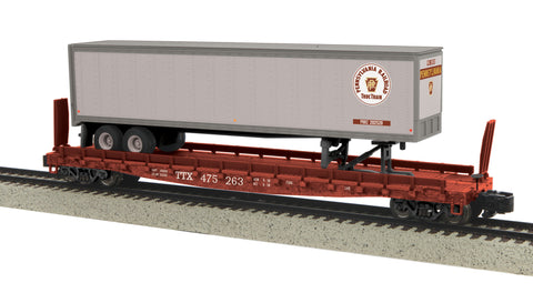 MTH 35-76013 S Pennsylvania Flat Car with 48' Trailer #475263