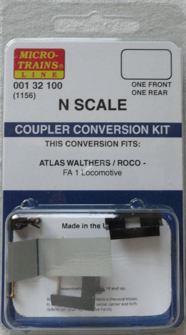 Kadee 1156 N Coupler Conversion Kit for Atlas FA1 Locomotive
