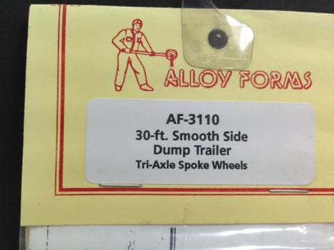 Alloy Forms 3110 HO 30 ft. Tri-Axle Dump Trailer w/Spoke Wheels