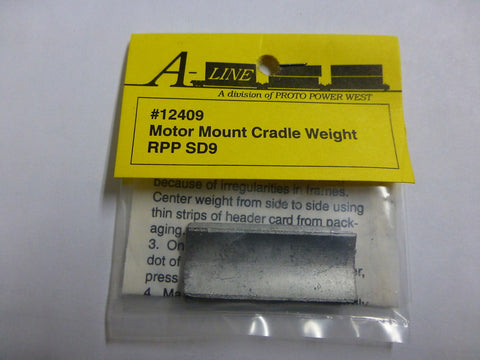 A-Line 12409 HO Motor Mount Cradle Weights - RPP SD-9
