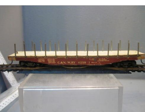 Adair Shops 2052 HO Weights Intermountain Cars 60' Wood Deck Flat Car