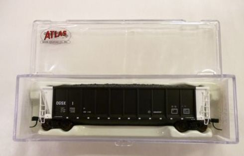 Adair Shops 2200 HO Weights Red Caboose Composite Side Drop Bottom Gondola