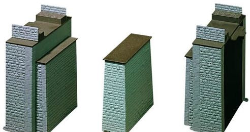 AIM 20001457 HO Brick Tapered Wing Walls