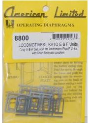 American Limited Models 46905 N Diaphragms For Kato E&F units 4 Ends (Gray)