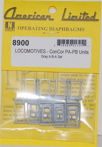 American Limited Models 77025 N Diaphragms For Con-Cor Alco PA & PB (Gray)