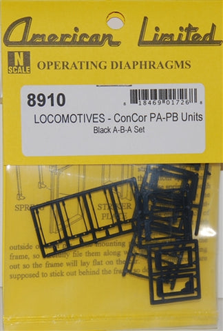 American Limited Models 77047 N Diaphragms For Con-Cor Alco PA & PB (Black)