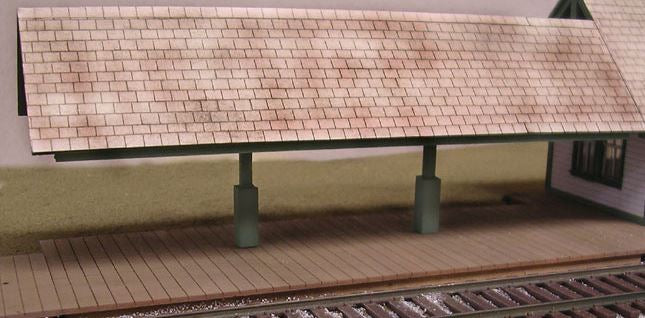 B.T.S. 17401 O Scale Flagstop Covered Station Platform Laser-Cut Craftsman Building Kit