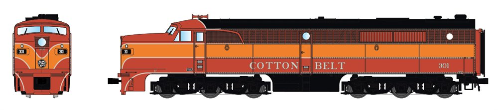 Broadway Limited 3396 N Cotton Belt SSW Alco PA1 Paragon2™ #301