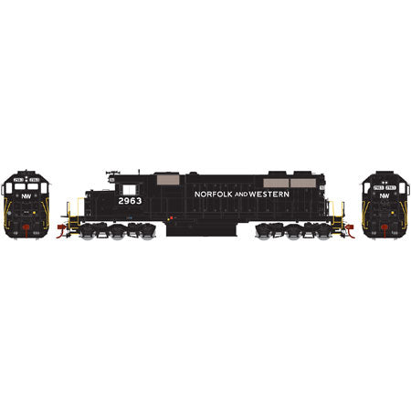 Athearn 98884 HO Norfolk & Western SD39 with DCC & Sound #2963