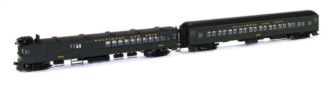 Bachmann 81466 N Baltimore and Ohio EMC Electric Doodlebug with Trailer Coach