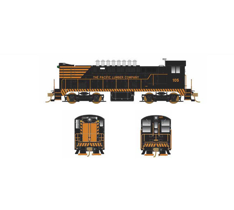 Bowser 24241 HO Pacific Lumber Company Baldwin VO-1000 with LokSound #105