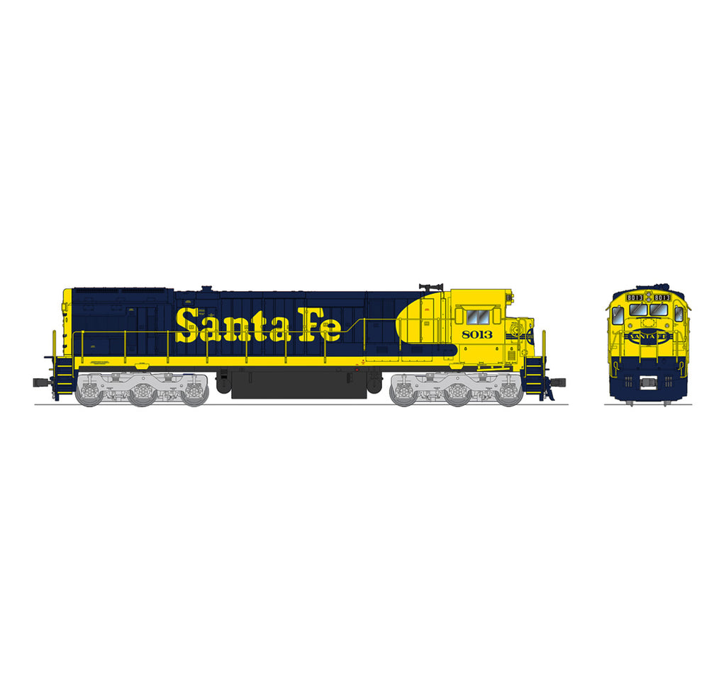 Broadway Limited 4400 HO Santa Fe GE C30-7 Sound/DC/DCC #8013