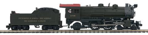 MTH 22-36272 O Penn Rdng Seashore Lines 4-4-2 Atlantic Steam Engine w/PS3 #1708