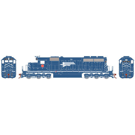 Athearn 98864 HO MP SD40 Diesel Engine with DCC & Sound RTR #734