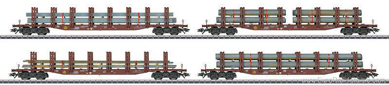 Marklin 47319 HO German Railroad, Inc. Steel Transport Set (4)