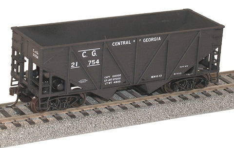 Accurail 2722 HO 55-Ton Wood Side Twin Hoppers Central of Georgia Model Kit