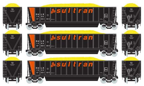 Athearn 97541 HO Sultran Bathtub Gondola with Coal Load RTR (3) #2
