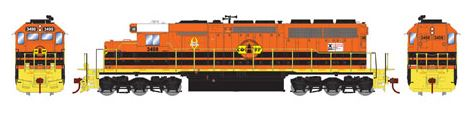 Athearn 98750 HO CORP SD40 Diesel Engine RTR #3498