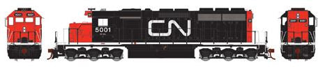 Athearn 98756 HO Canadian National SD40 Diesel Locomotive RTR #5001