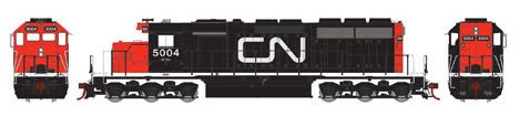 Athearn 98757 HO Canadian National SD40 Diesel Locomotive RTR #5004