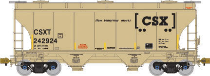 American Limited Models 1021 HO CSXT 3281cf 2-Bay Covered Hopper #243266