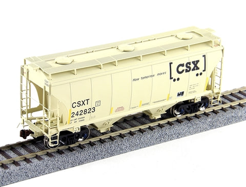 American Limited Models 1022 HO CSXT 3281cf 2-Bay Covered Hopper #243392