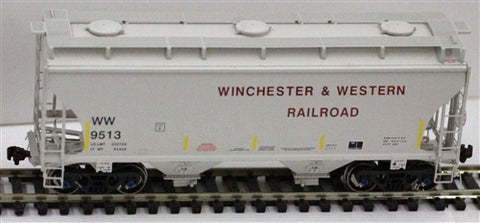 American Limited Models 1077 HO Winchester & Western 2-Bay Covered Hopper #9586