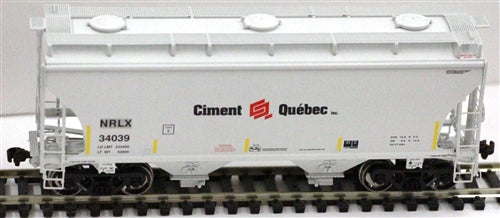 American Limited Models 1086 HO Ciment Que'bec NRLX 2-Bay Covered Hopper #34088