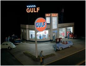 Miller Engineering 931 HO Gulf Station Lighting Sign