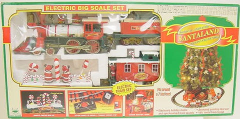New Bright 376WG Musical Animated Santa Land Train Set
