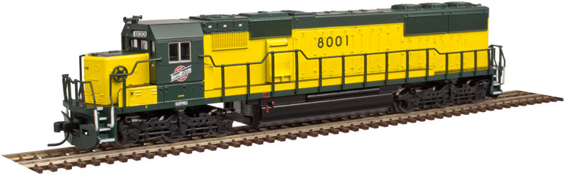 Atlas 40002637 N Chicago & North Western SD60 Locomotives #8001