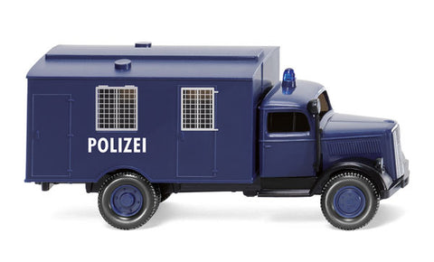Wiking 086435 HO Police - 1939 Opel Blitz Prisoner Transport