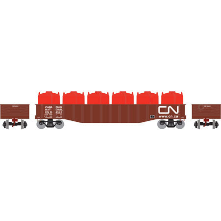 Roundhouse 14801 HO Canadian National 50' Gondola w/Canisters Load #144541