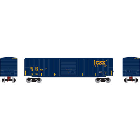 Roundhouse 14825 HO CSX 50' ACF Outside Post Box Car #129932