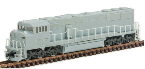 Atlas 40002670 N Undecorated EMD SD60M Diesel Engine with 3-Window Cab and DCC