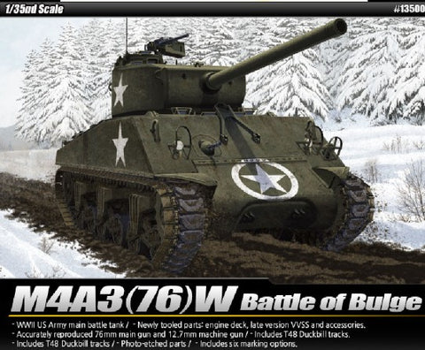 Academy 13500 1:35 M4A3 76W Battle of Bulge US Main Battle Tank
